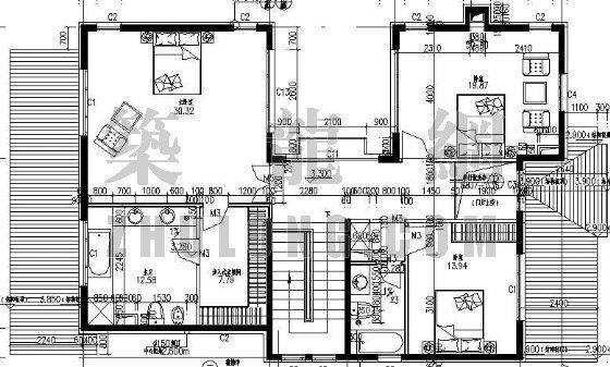 某别墅区设计方案(B)型-4