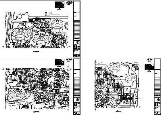 北京万科新园全套景观设计施工图-3