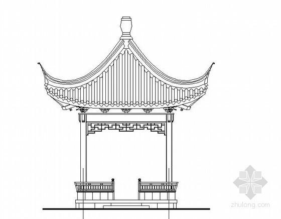 中式古典方亭施工大样
