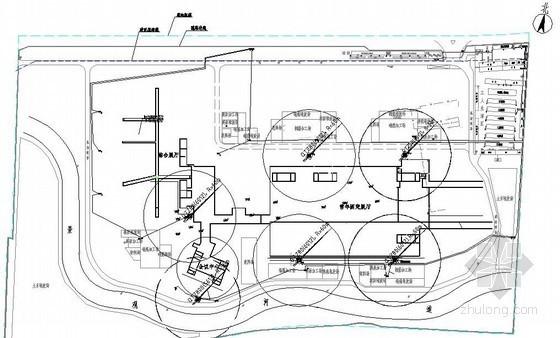 商业广场施工现场平面布置图(基础、结构、临水临电)