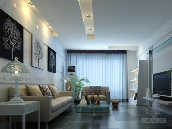 现代时尚简约客厅3d模型下载