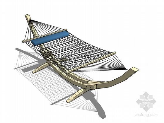 户外休闲吊床SketchUp模型下载