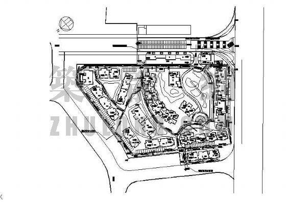 四川某小区综合管网平面图