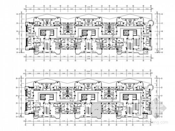 [北京]连锁酒店全套装饰电气施工图纸(含弱电 水暖)