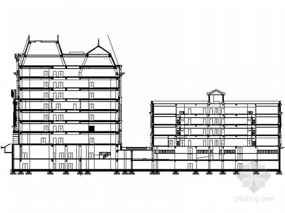[天津]某七层欧式办公楼建筑施工图