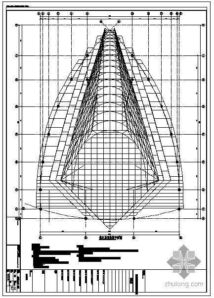 上海某钻石屋面钢结构节点构造详图