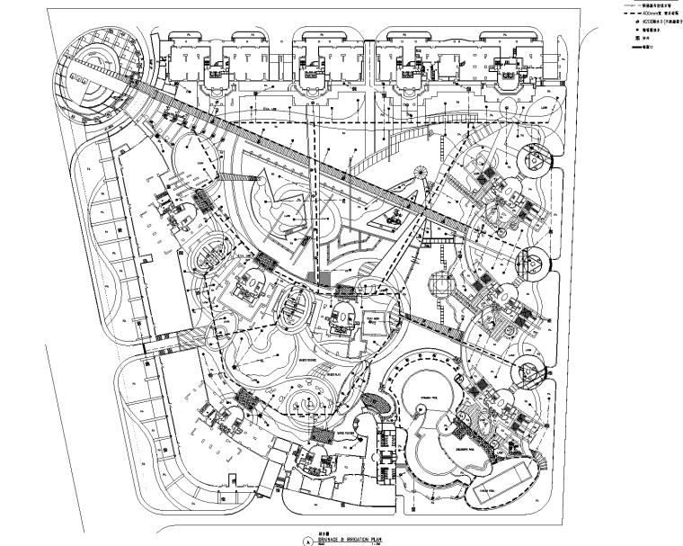 [广东]东莞东城金月湾花园居住区景观CAD施工图