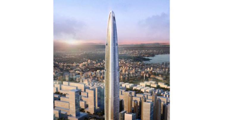 [武汉绿地中心项目]主塔楼巨型钢柱液压自爬升平台施工专项方案(论证后,共98页,图文丰富)