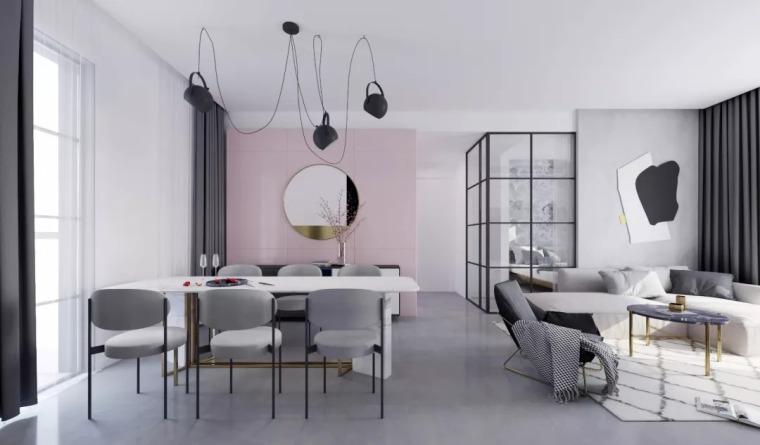 民宿设计 | 灰调加入粉色,清新明媚