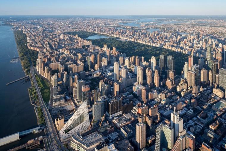 约曼哈顿西57超高层庭院,来自 BIG