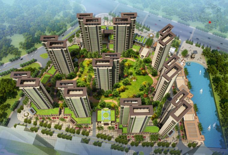 [广东]保利住宅、商业、幼儿园综合性社区建筑设计方案文本