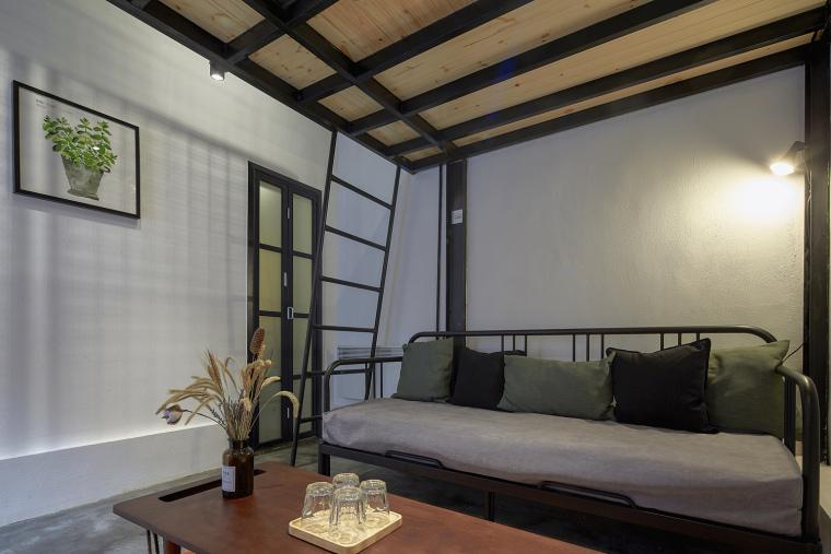 北京北海百年糖房改造-141-黑糖客房客厅区