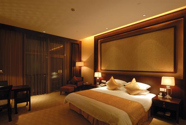 绍兴五星级园林酒店施工图(含实景)-豪华大床间实景图
