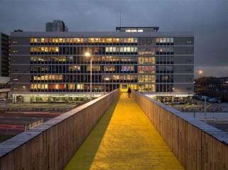 荷兰明黄色城市景观桥