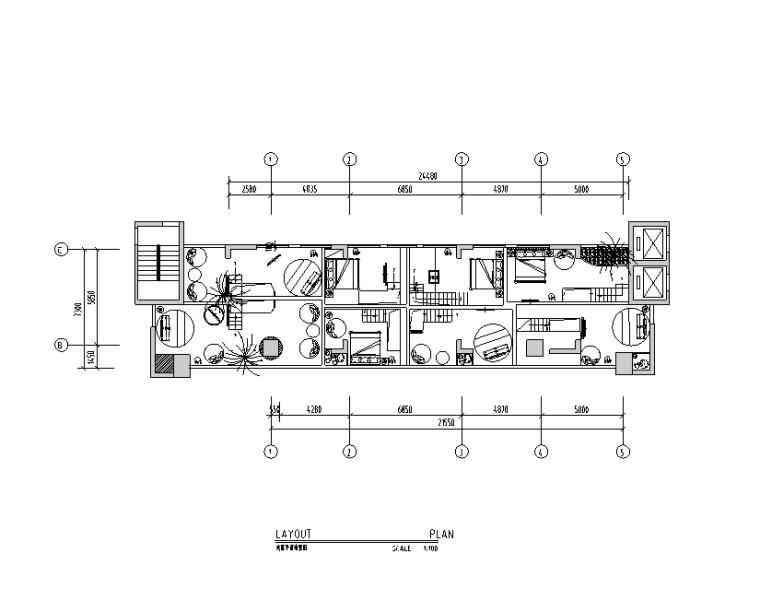 [广东]青蓝莓主题酒店设计施工图(附效果图)