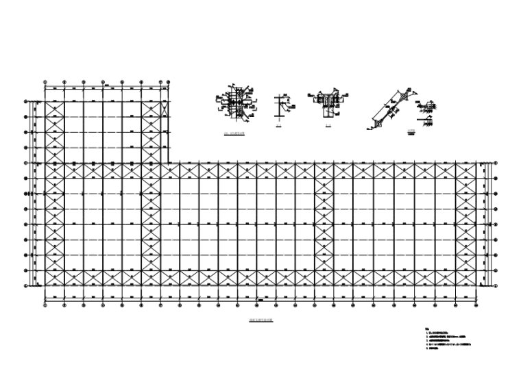 门式刚架单层厂房结构施工图(CAD、18张)