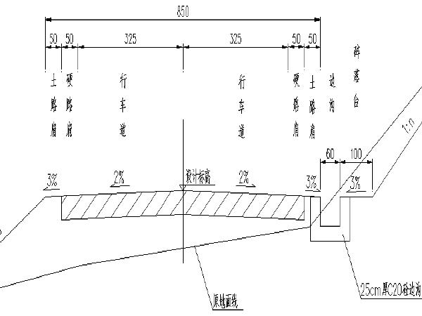 [长沙]新机场分散营区连接道路工程施工设计图(图纸+工程数量表)
