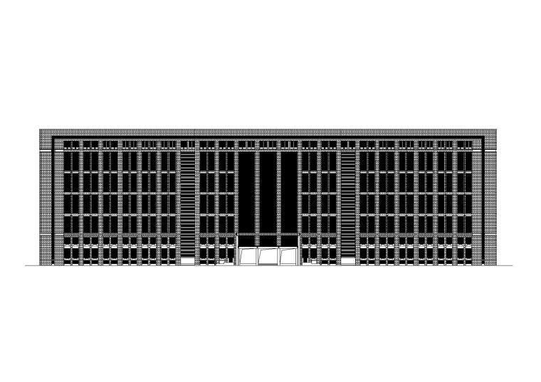 [江苏]金坛市行政中心双楼办公楼施工图+节能报告书(CAD)