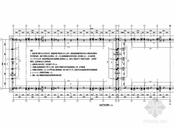 粮食储备库平房仓结构施工图(24米跨双T板)