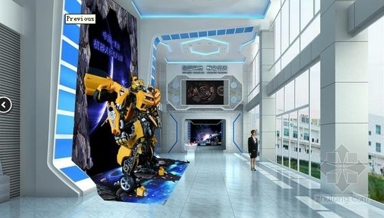 [重庆]高新智能科技功能规划产业园展示厅装修施工图(含效果)序厅效果图