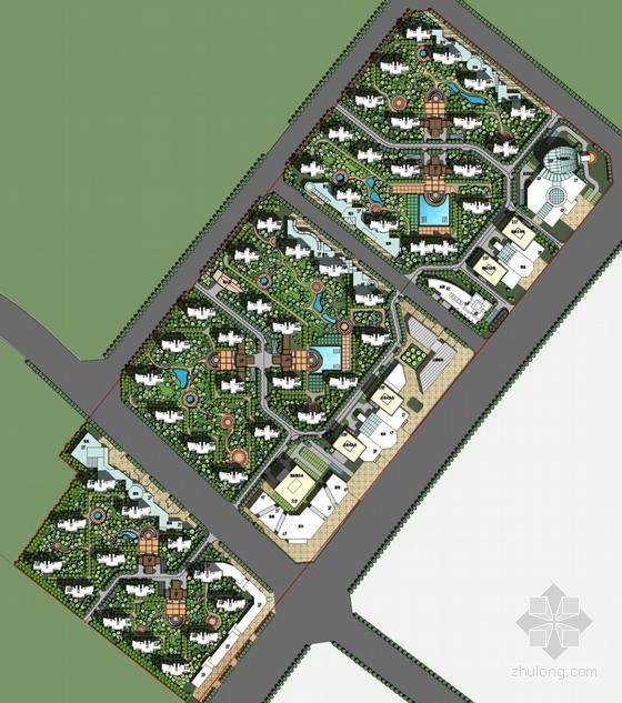 [安徽]都市文化商务住区规划设计方案文本(垂直都市理念)-都市文化商务住区规划总平面图