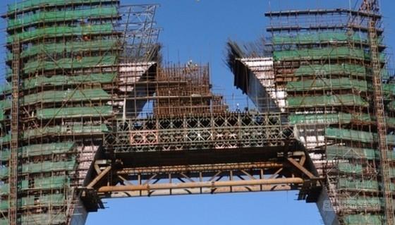 自锚式悬索桥主塔顶横梁牛腿支架设计与施工