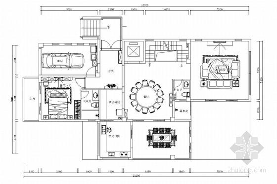 [海南]低密度海景高端社区新中式风格三层别墅装修图(含效果图)