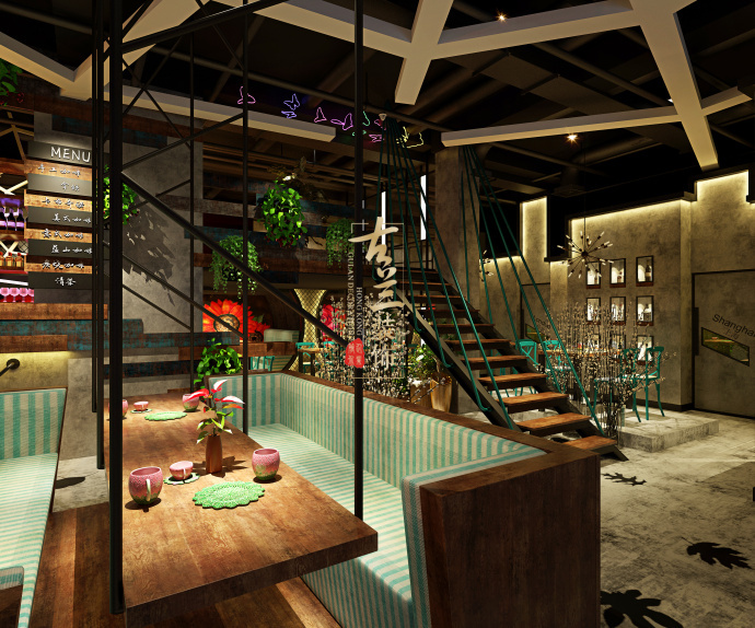 景洪咖啡厅设计《TimeGargen-COFFEEBAR》