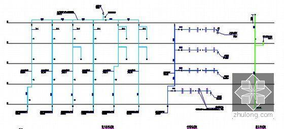 [广东]2015年广场文化活动中心装修工程预算书(附施工图纸)-12喷淋系统图