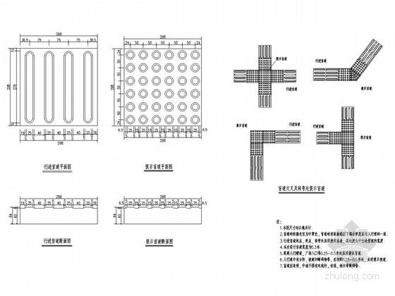 市政道路人行道及附属工程施工图设计