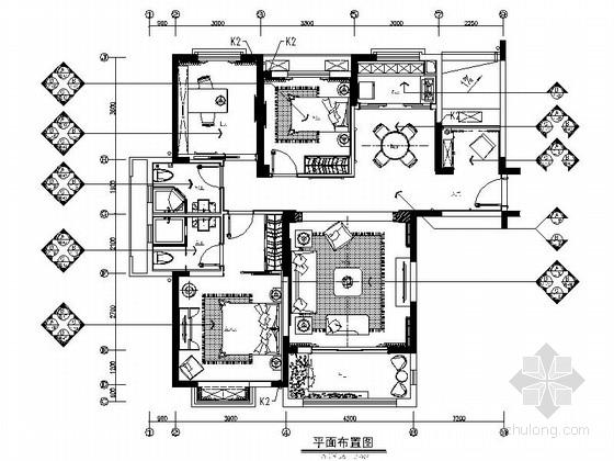 [南通]主题乐园欧式风格三居室装修图(含效果)