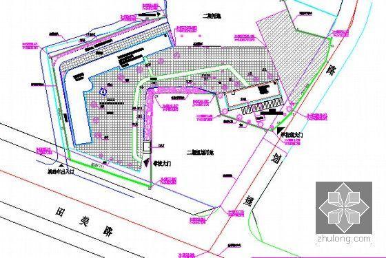 [广东]2015年校园广场及绿化附属工程预算书(附施工图纸)-总平面绿化图