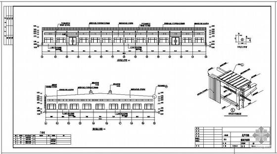 某2×18+21米跨带吊车轻钢厂房建筑结构设计图