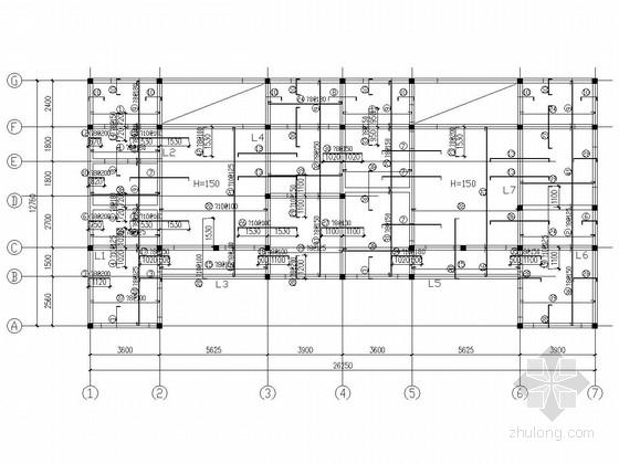 二层砖混结构住宅结构施工图