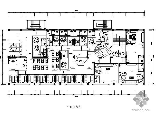 [湖南]590㎡茶楼装修设计图