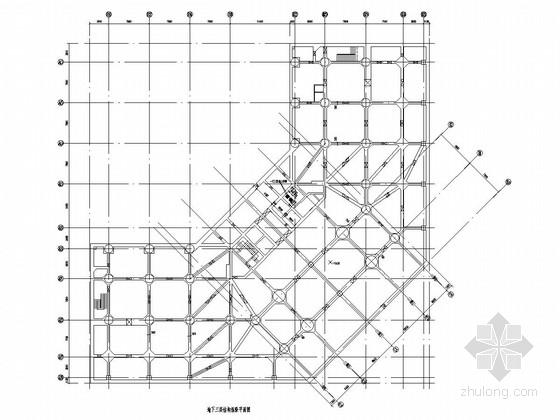 [北京]20层(局部25层)框支结构变为一般剪力墙结构酒店改造加固设计图纸(地下三层 箱基)