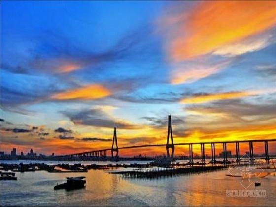 [广东]主跨480m钢与混凝土混合梁斜拉桥及引桥施工图348张(曲线桥塔塔高150米 桩长106米)