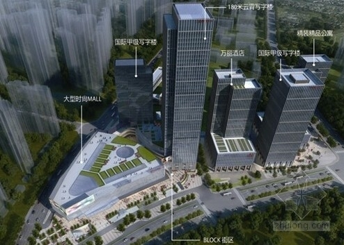 [安徽]29及24层商贸中心商务办公楼+公寓式酒店结构施工图(含详细建筑图)