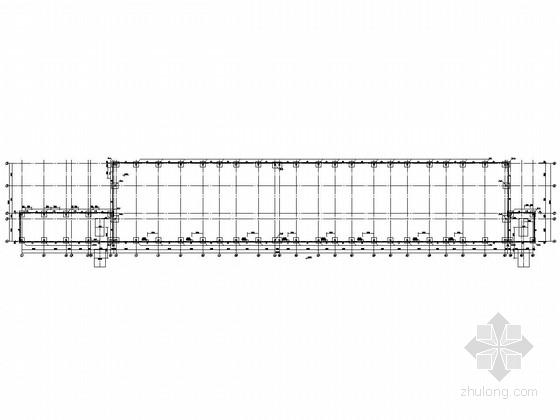 21米跨门式钢架结构厂房结构施工图(带吊车)