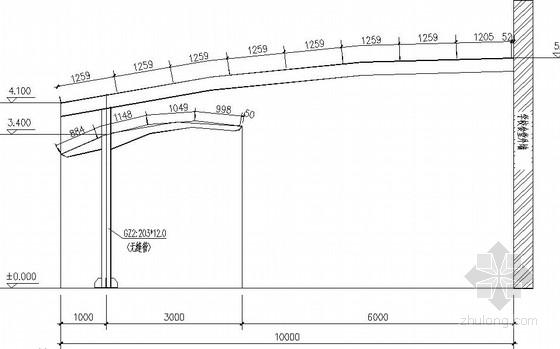 弧形雨篷梁结构施工图