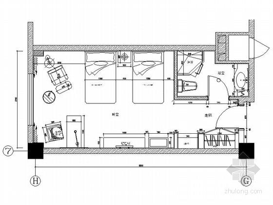 [原创]时尚现代商务酒店客房部分装修图(含效果图)