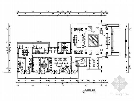 [江苏]英伦水乡国际社区现代售楼处装修施工图(含电气,给排水及暖通图)