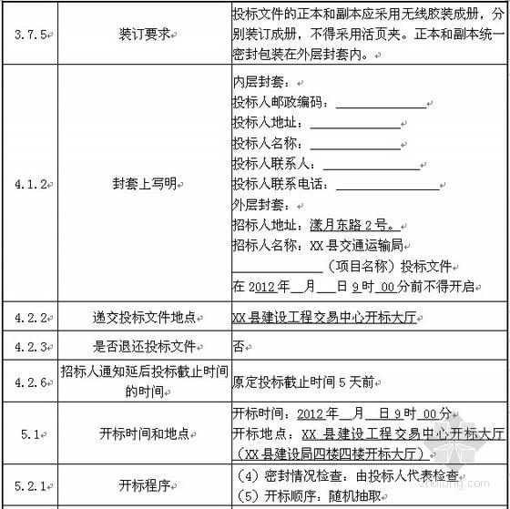 [云南]农村公路改造工程招标文件(2012-03)