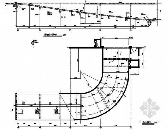 图书馆扩建地下车道节点构造详图