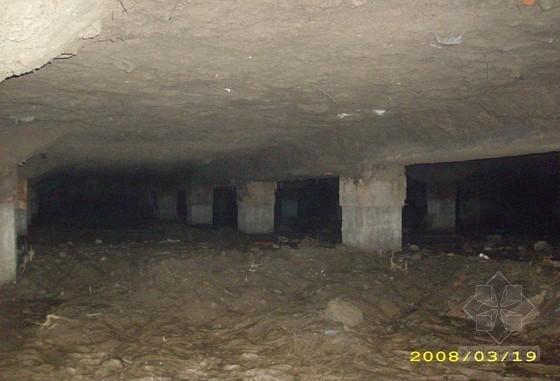 建筑基础工程架空层土体支模施工工法