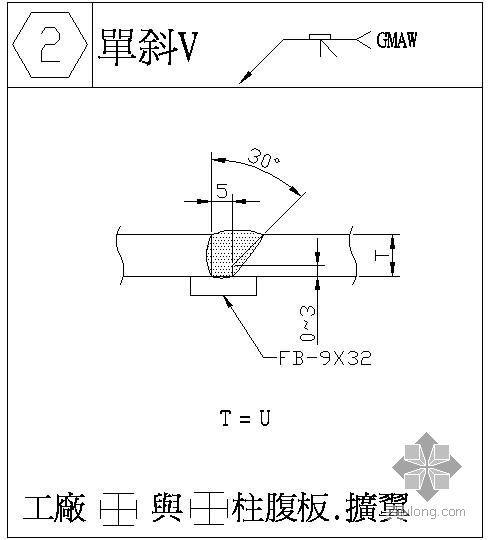 某焊缝对接节点构造详图(2)