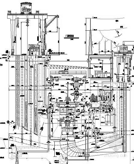 [四川]河床式水电站厂房综合布置图(水轮机层 发电机层 油处理系统)
