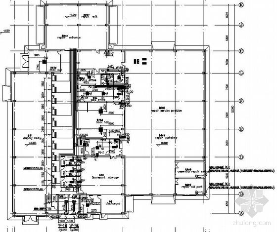 某汽车工业园4s店空调平面图