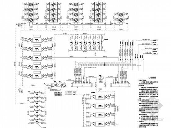综合商场冷热源机房系统设计施工图