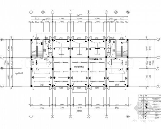 [重庆]给水管网工程照明防雷接地及等电位连接系统设计施工图